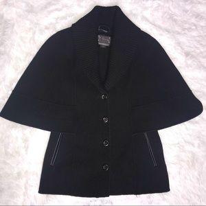 Mackage Delia Lightweight Cape, Wool, Leather